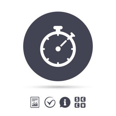 Timer sign icon