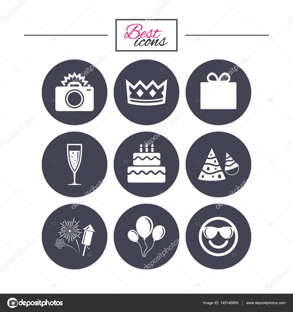 Party Feiern Geburtstag Symbole Stockvektor C Blankstock 145146805