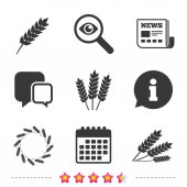Photo Agricultural icons set