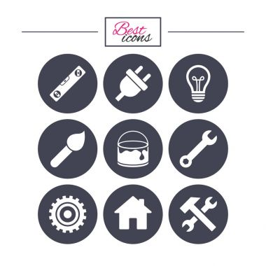 Repair, construction icons