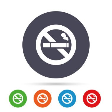No Smoking icons set