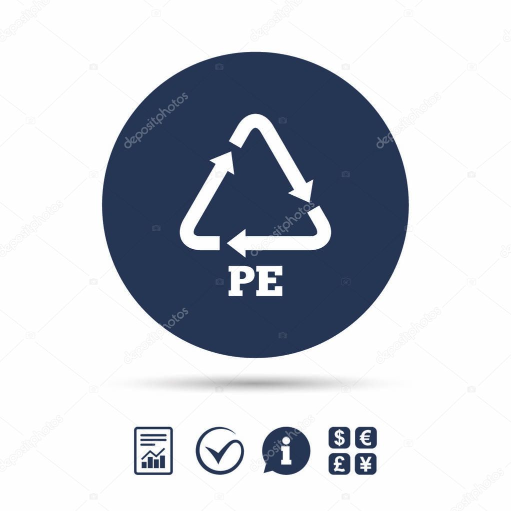 PE Polyethylene icon