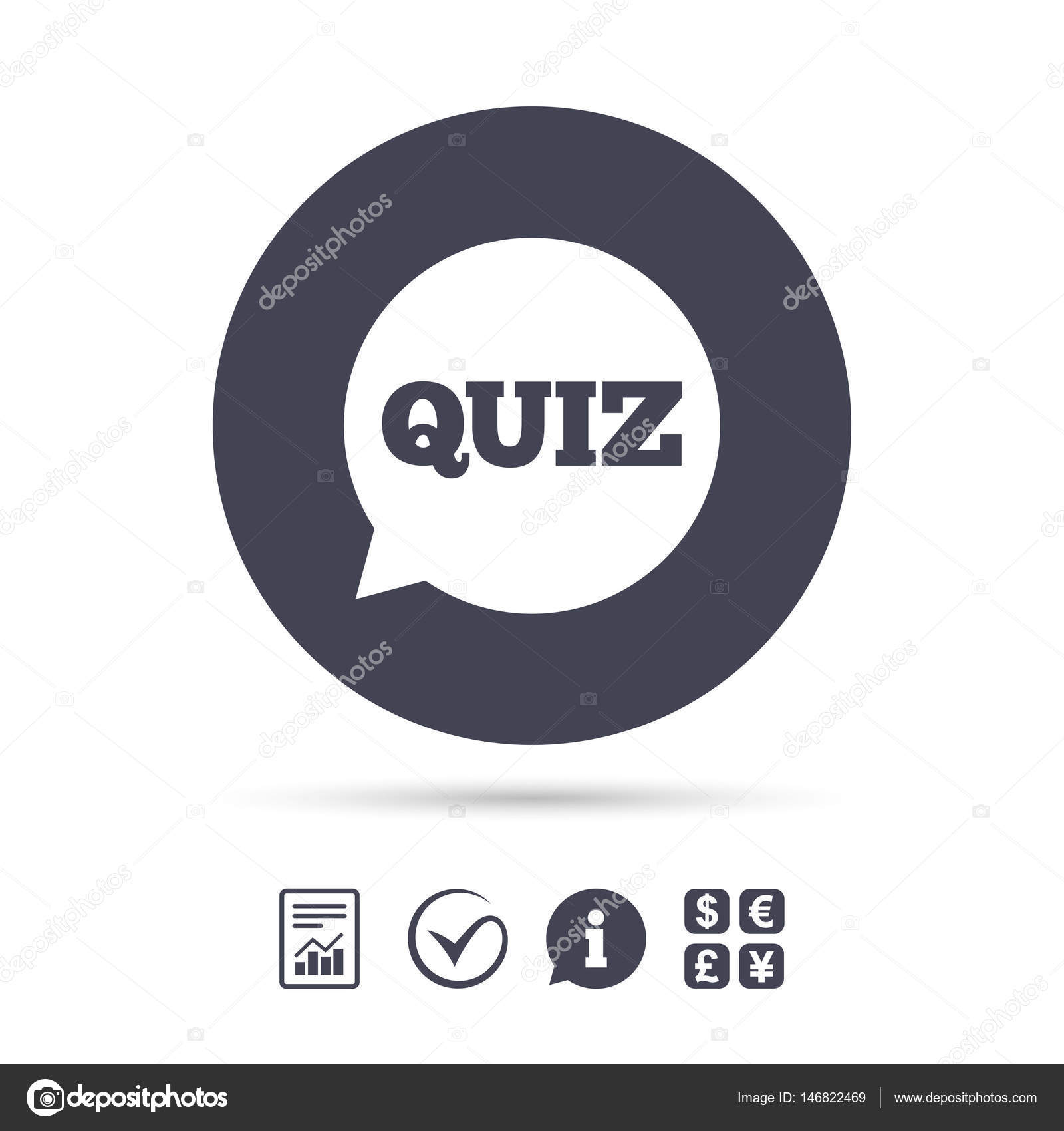 Questions And Answers Game Symbol Stock Vector Blankstock 146822469