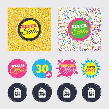 Discount special offer symbols