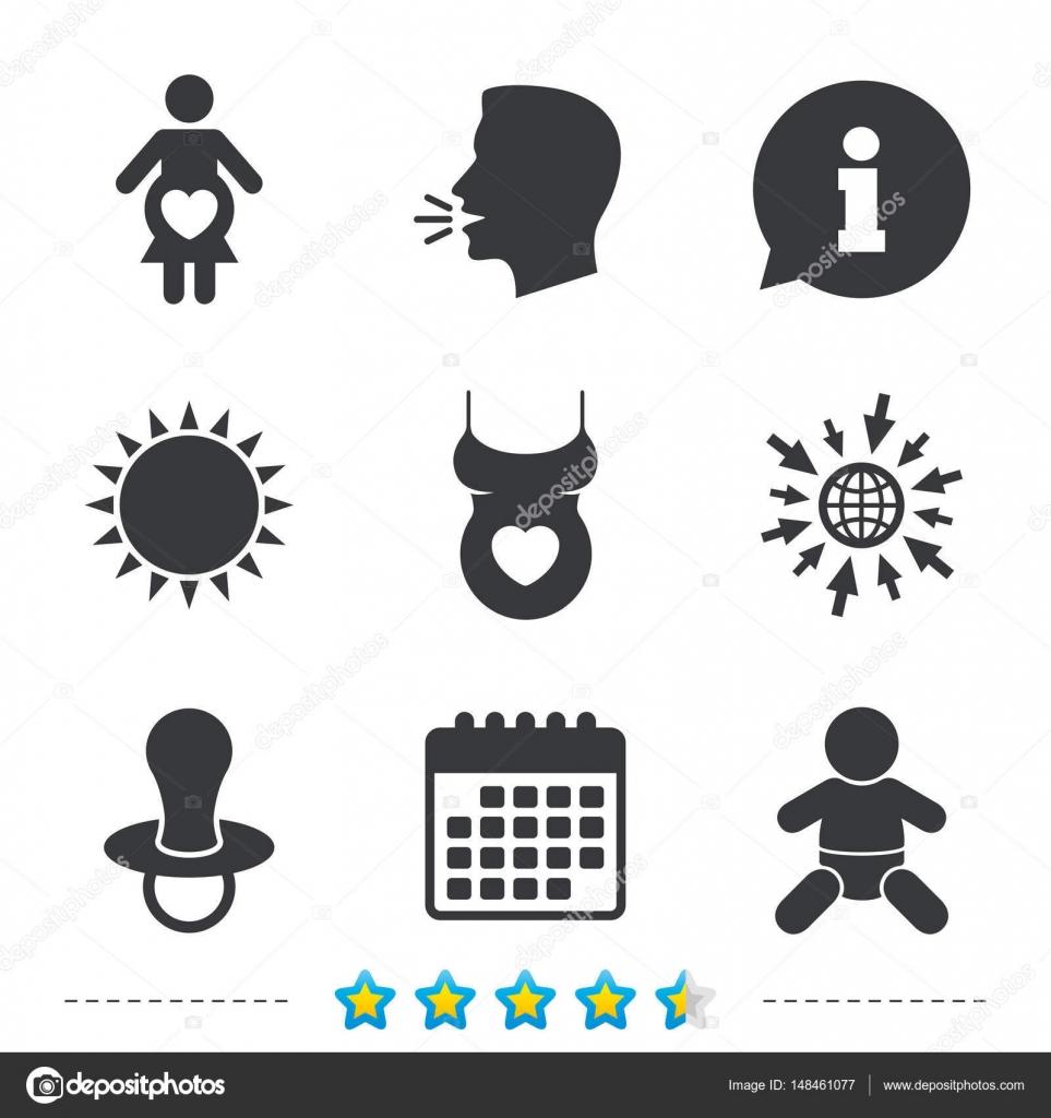 ae2235dc4 Conjunto de iconos de maternidad — Vector de stock © Blankstock ...