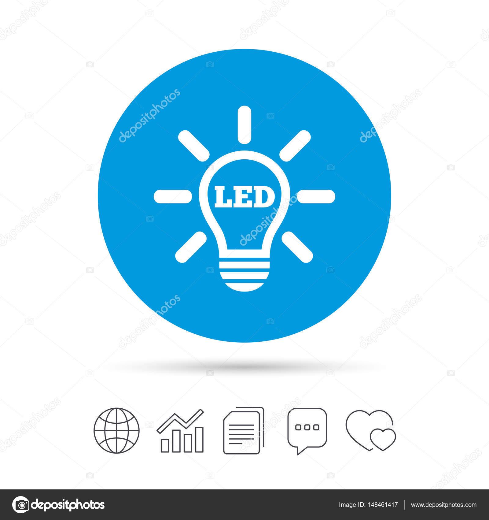 Led Light Lamp Icon Stock Vector Blankstock 148461417