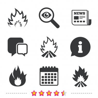 Fire flame icons.