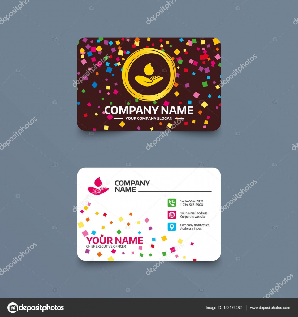 Business card with Save water sign. — Stock Vector © Blankstock ...