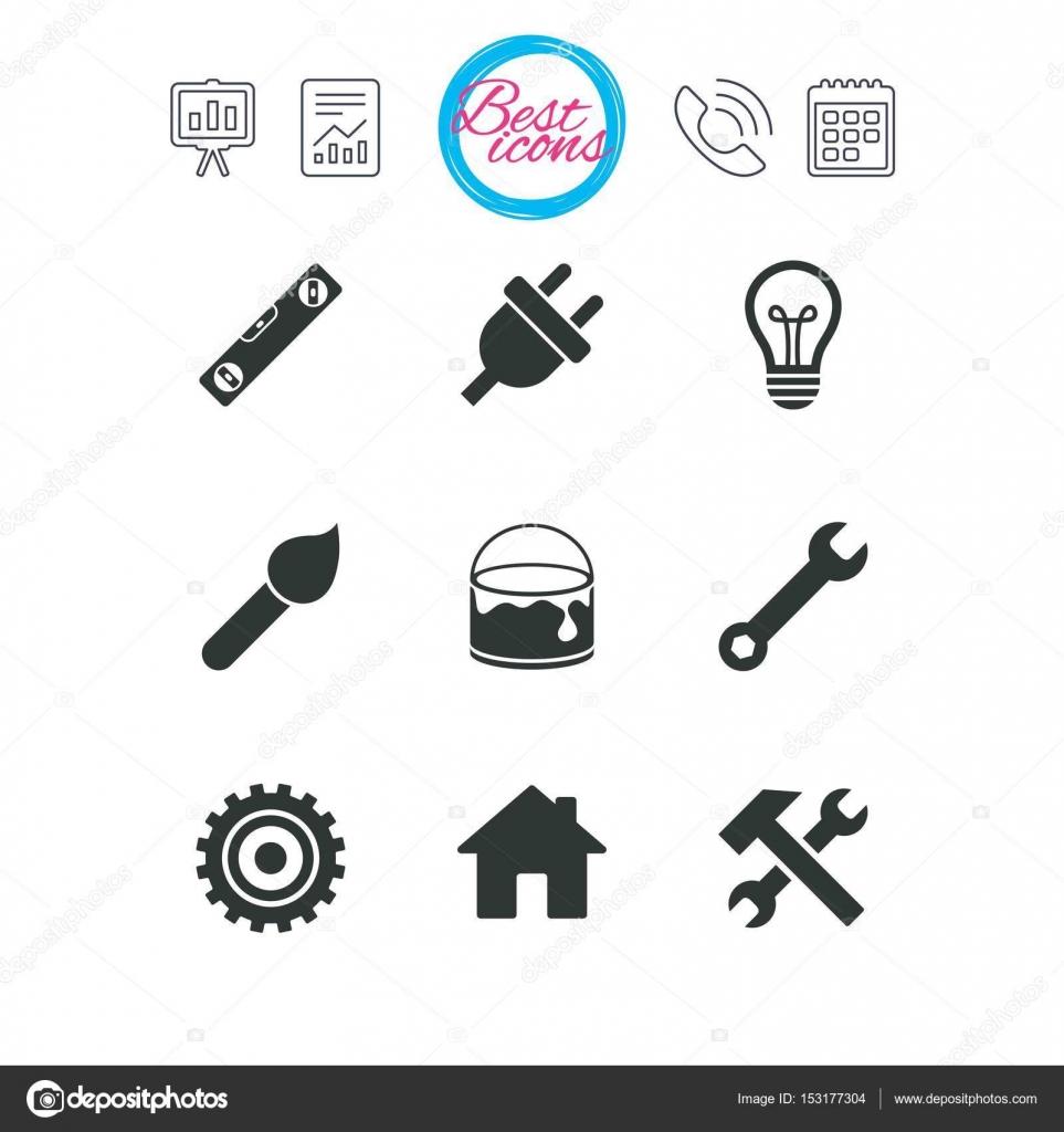 Reparatur, Bau-Symbole — Stockvektor © Blankstock #153177304