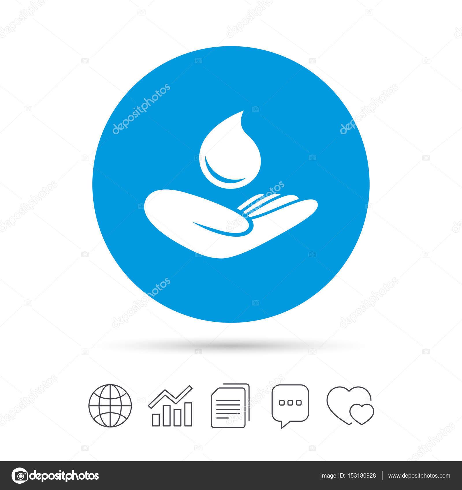 Hand Holds Water Drop Symbol Stock Vector Blankstock 153180928