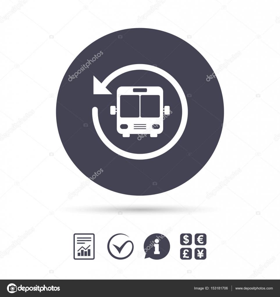 Bus shuttle icon  Public transport stop symbol  — Stock