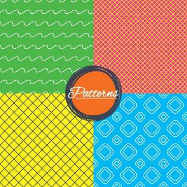 Linear geometric patterns set