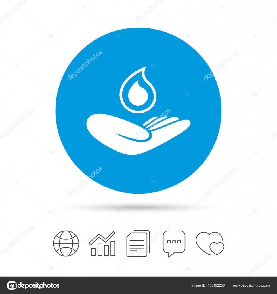 Hand holds water drop symbol stock vector blankstock 153192256 hand holds water drop symbol stock vector biocorpaavc Image collections
