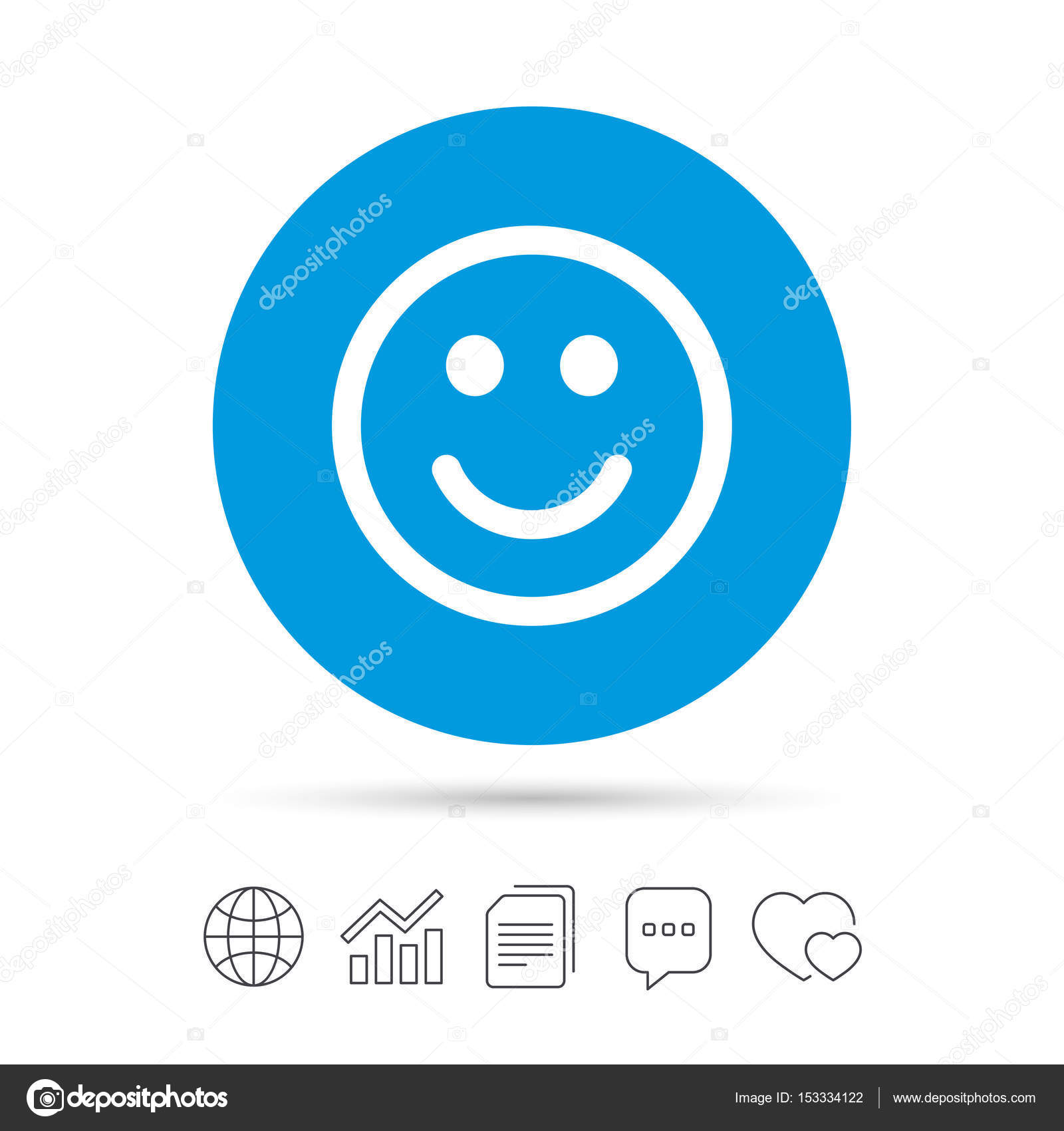 Happy Face Symbol Stock Vector Blankstock 153334122