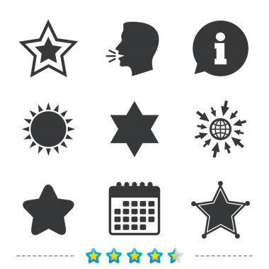 Star of David icons.