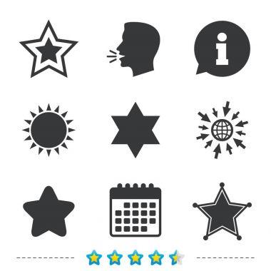 Star of David icons.