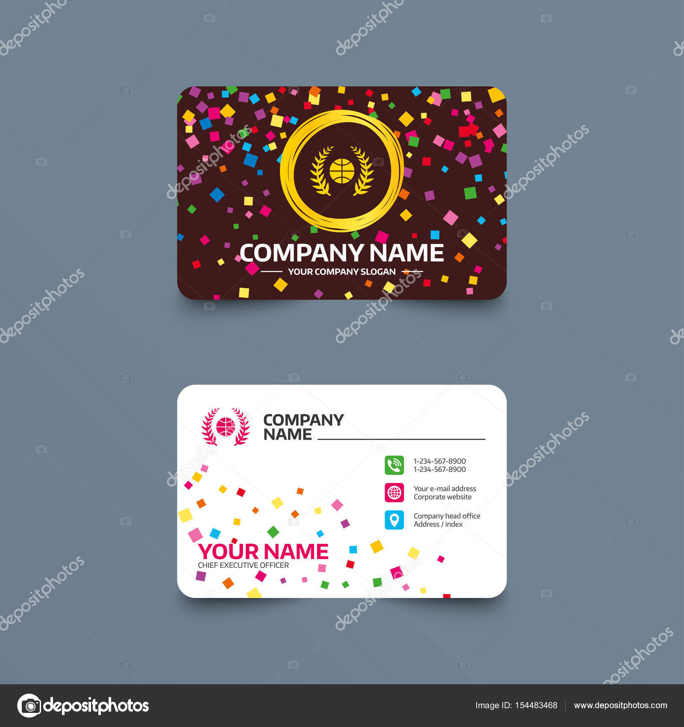 Basketball business card template — Stock Vector © Blankstock #154483468