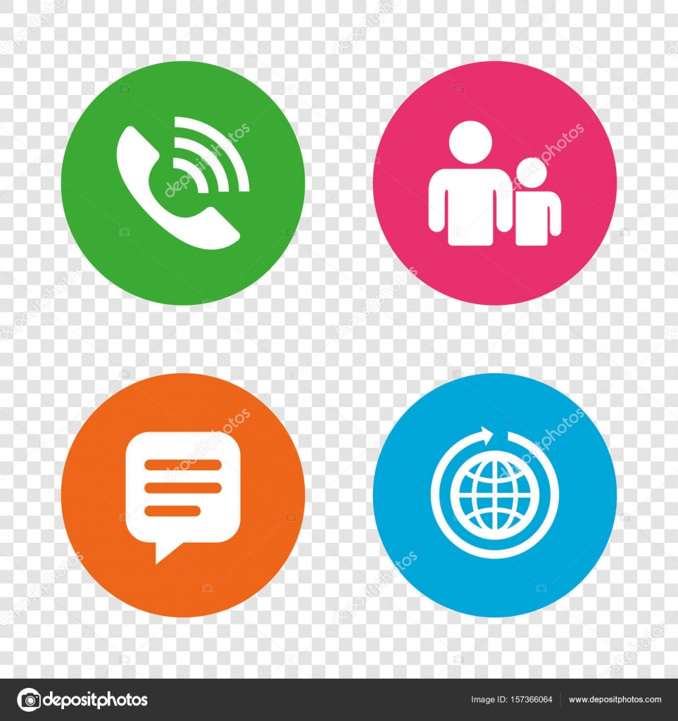 Communication web signs stock vector blankstock 157366064 speech bubble and round the world arrow symbols communication web signs round buttons on transparent background vector vector by blankstock biocorpaavc Gallery