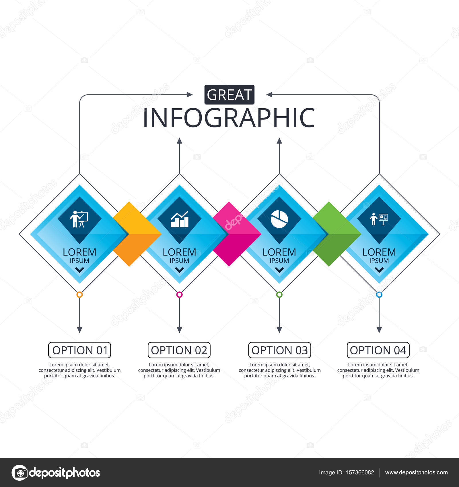 Gráfico de diagrama gráfico — Vector de stock © Blankstock #157366082