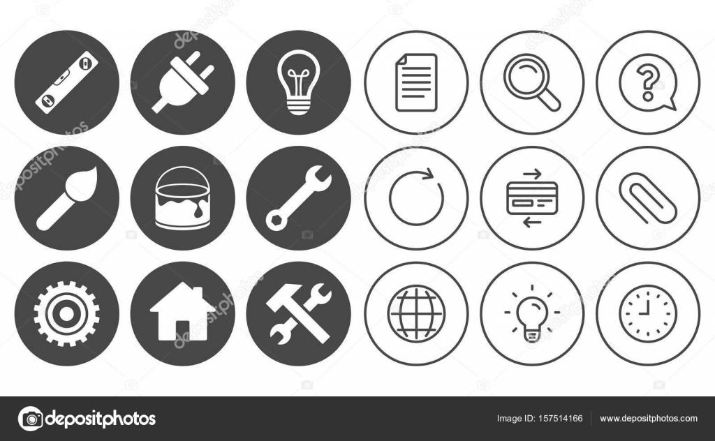 Reparatur, Bau-Symbole — Stockvektor © Blankstock #157514166