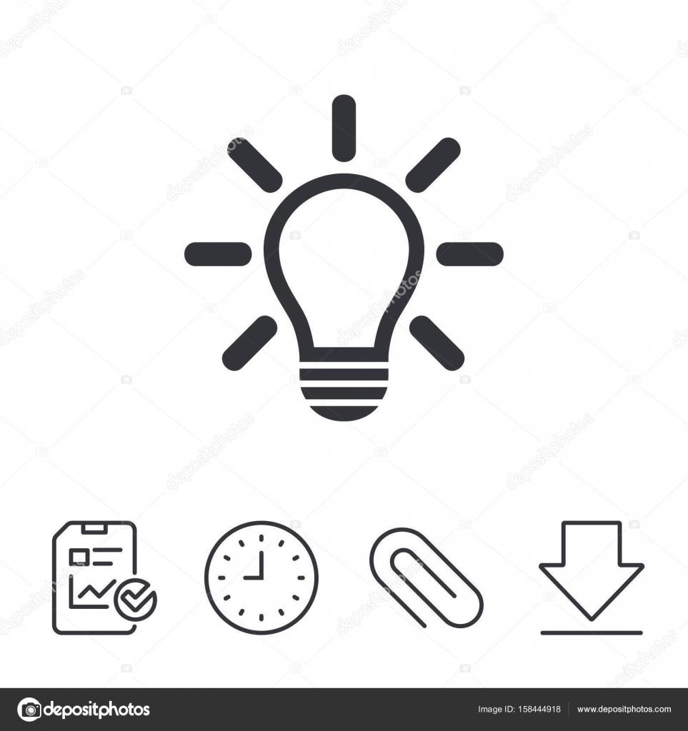 Lampe Licht Zeichen Symbol — Stockvektor © Blankstock #158444918