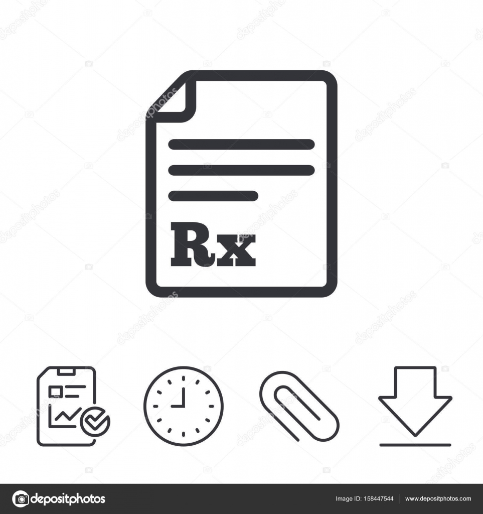 Medical Prescription Rx Sign Icon Stock Vector Blankstock 158447544