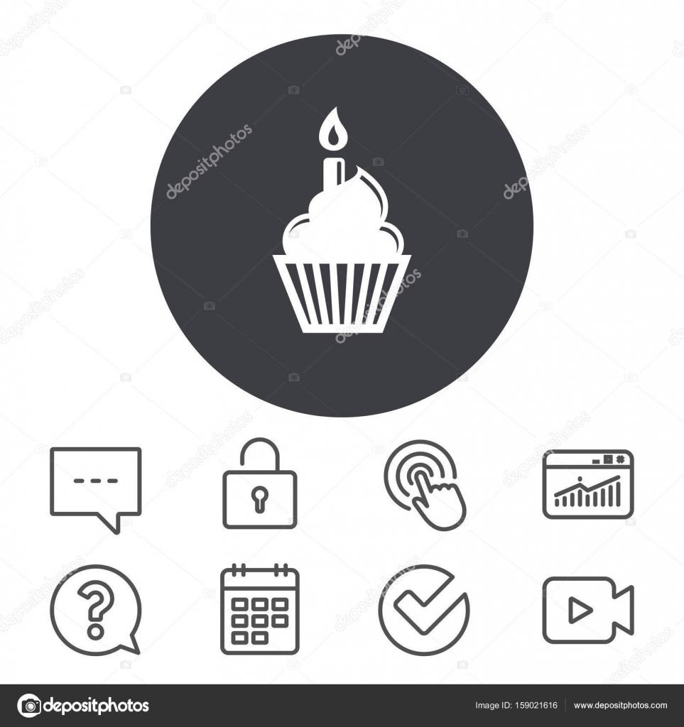 Geburtstag Kuchen Zeichen Symbol Stockvektor C Blankstock 159021616