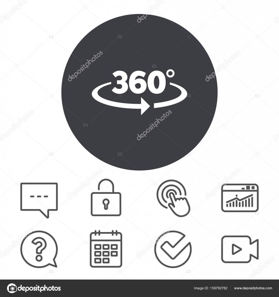 Angle 360 Degrees Sign Icon Stock Vector Blankstock 159792782