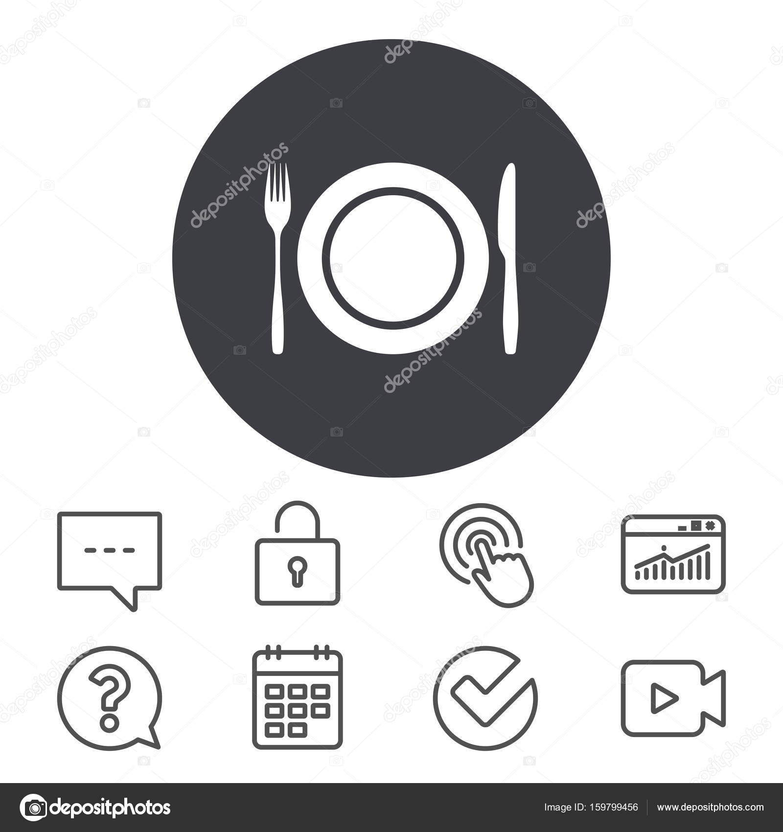 Plate Dish With Fork And Knife Stock Vector Blankstock 159799456