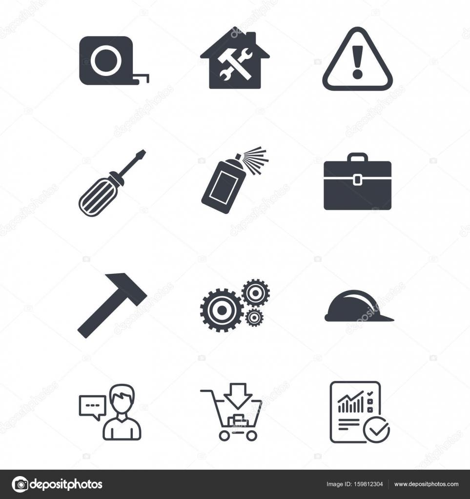 Naprawa Budowa Ikony Grafika Wektorowa C Blankstock 159812304