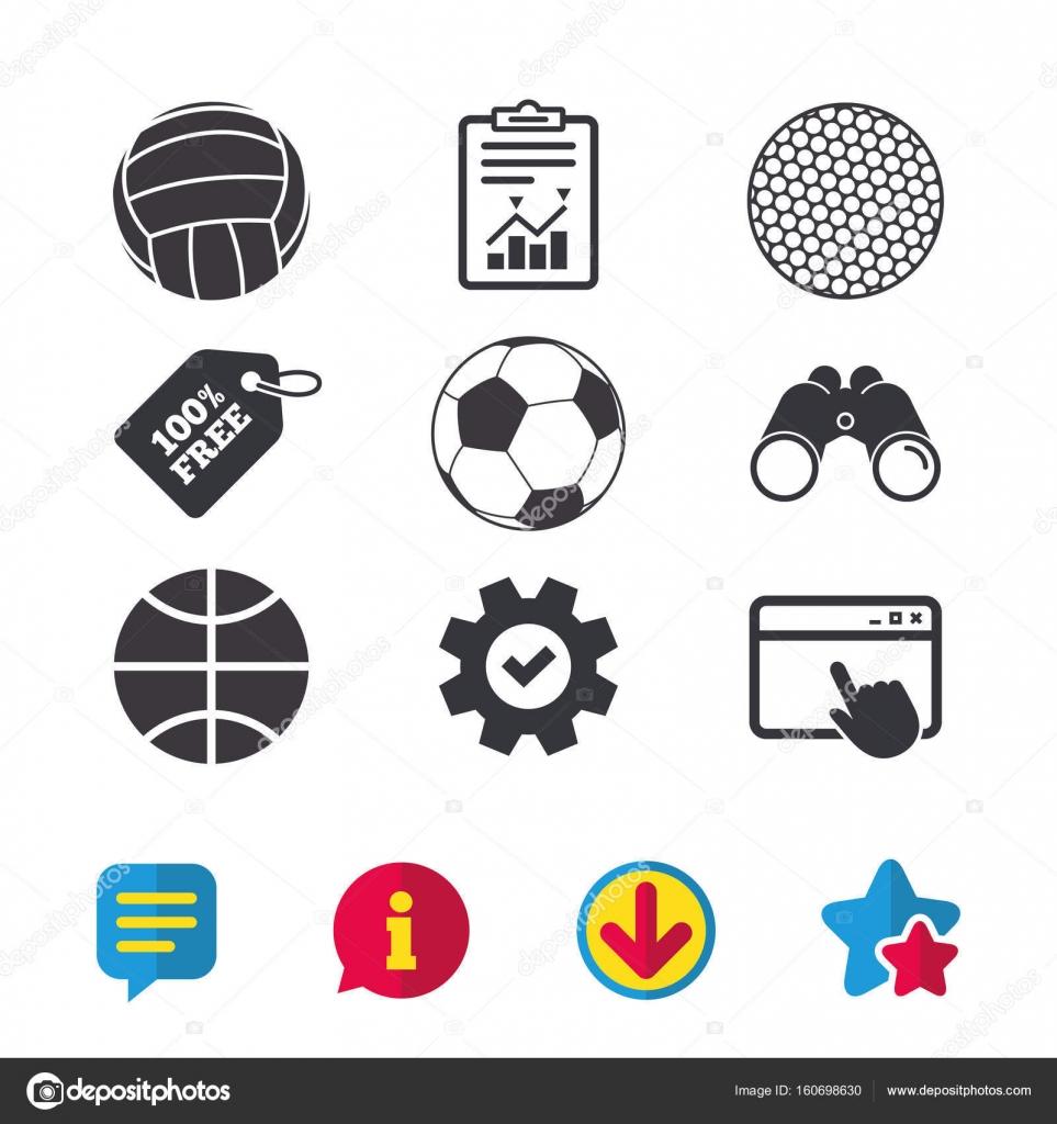 Iconos de balones deportivos — Archivo Imágenes Vectoriales ...