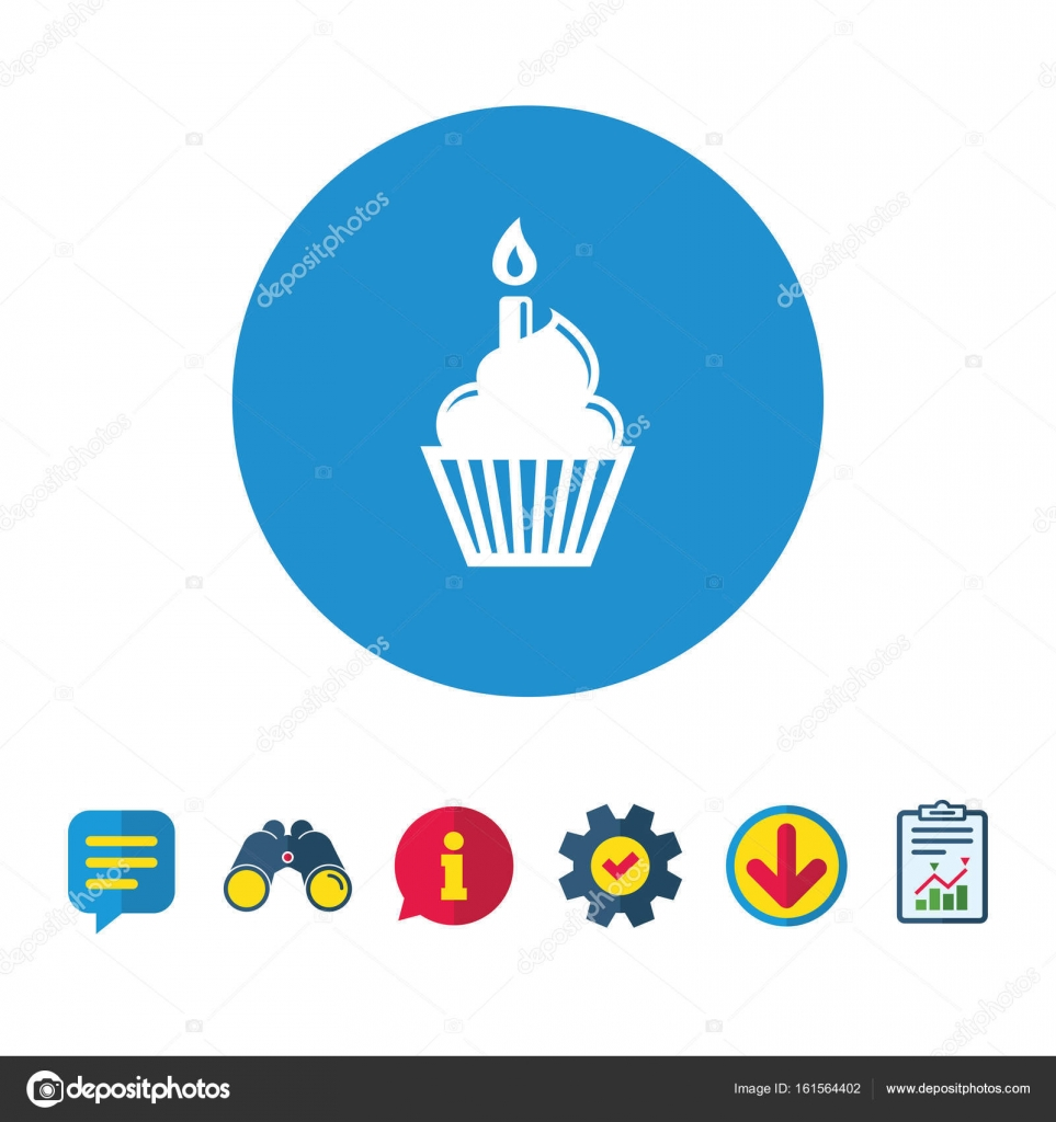 Birthday Cake Icon Stock Vector Blankstock 161564402