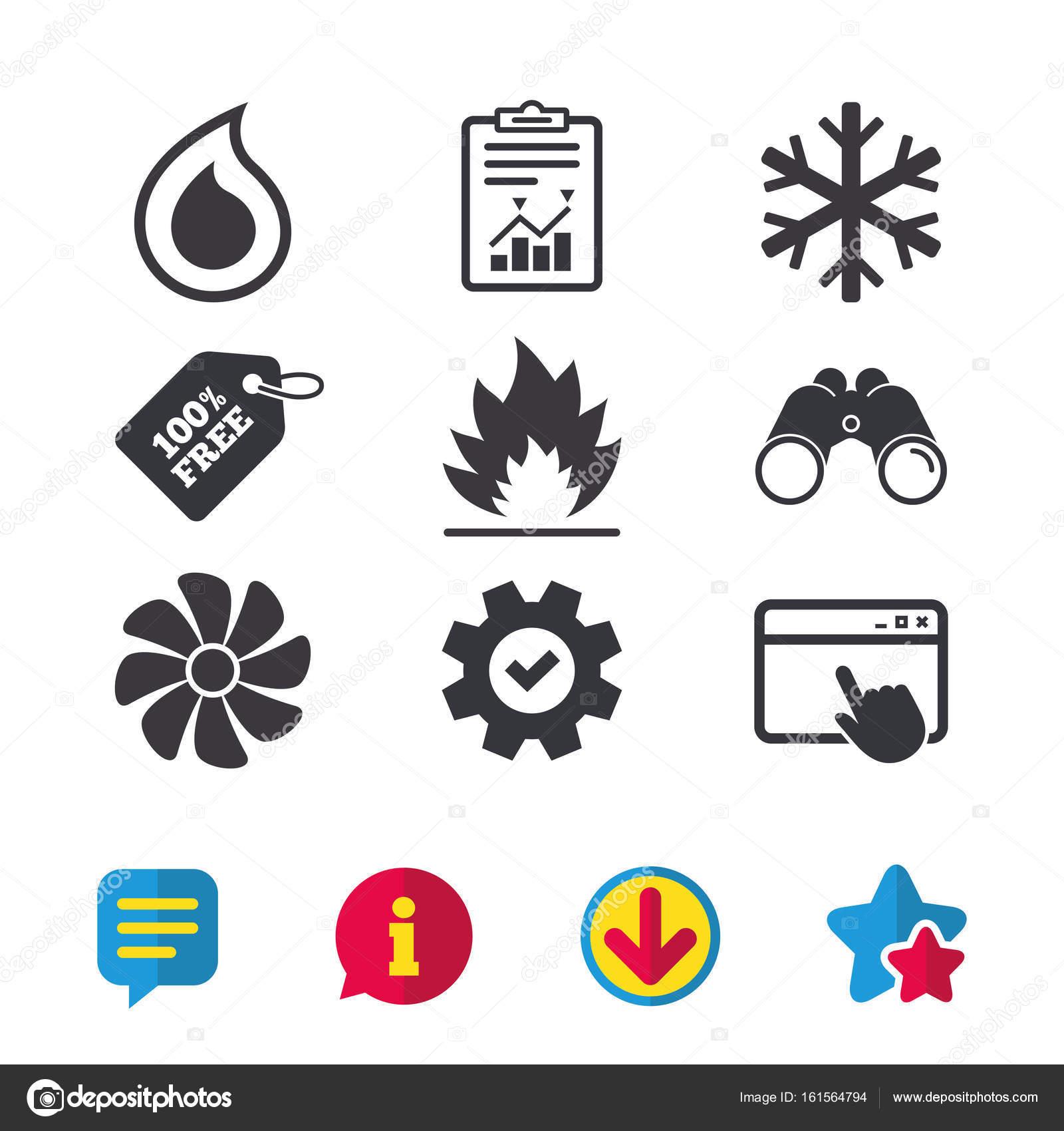 Lüftungs- und Klimaanlagen Symbole — Stockvektor © Blankstock #161564794