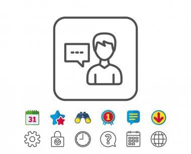 User communication line icon