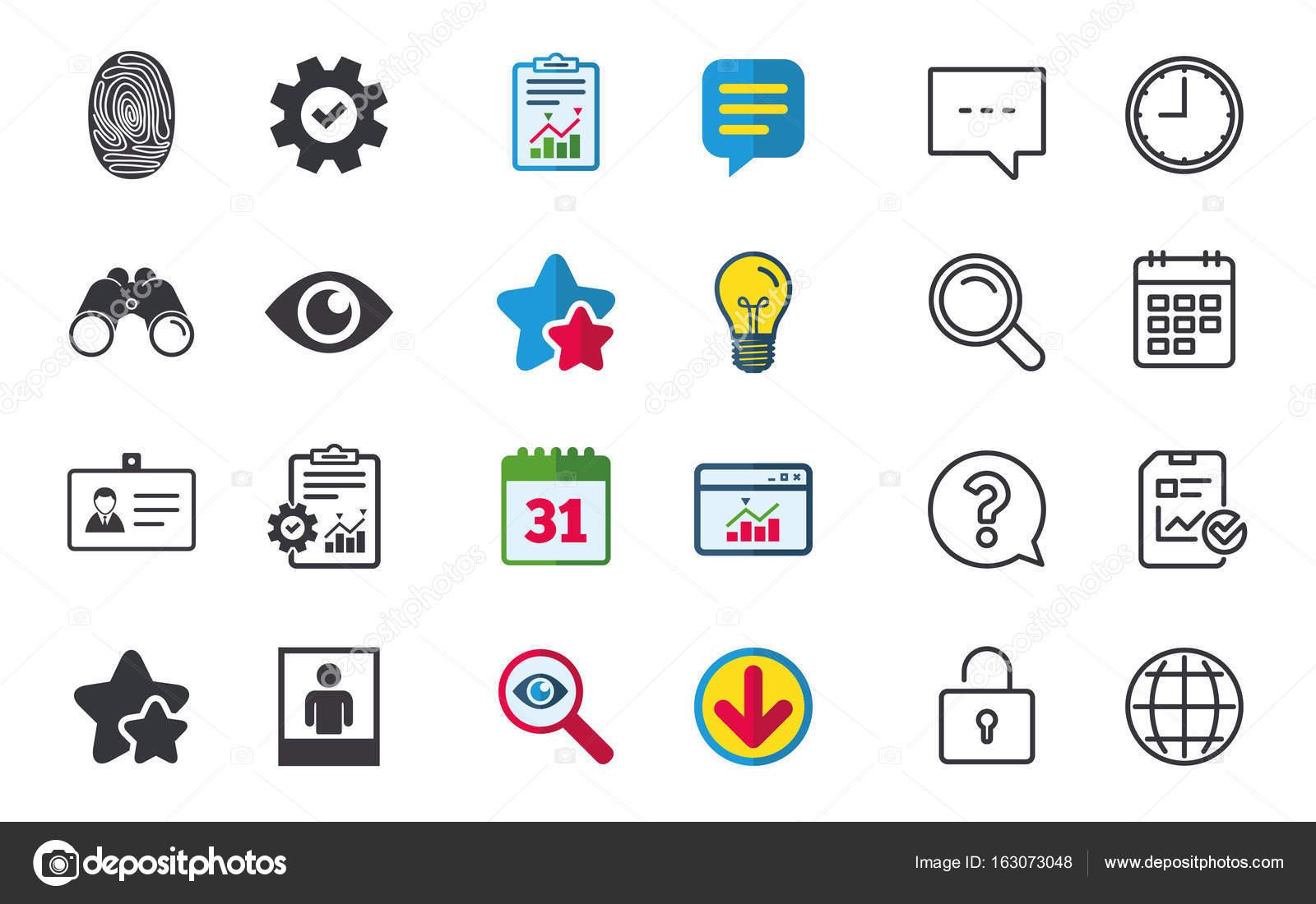 iconos de insignia de identidad DNI. símbolo del ojo — Vector de ...
