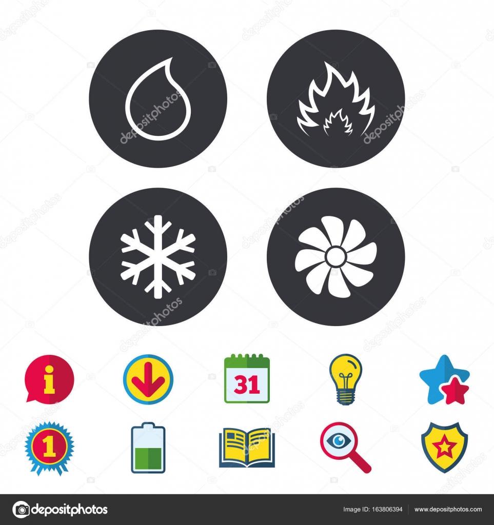 Lüftungs- und Klimaanlagen Symbole — Stockvektor © Blankstock #163806394