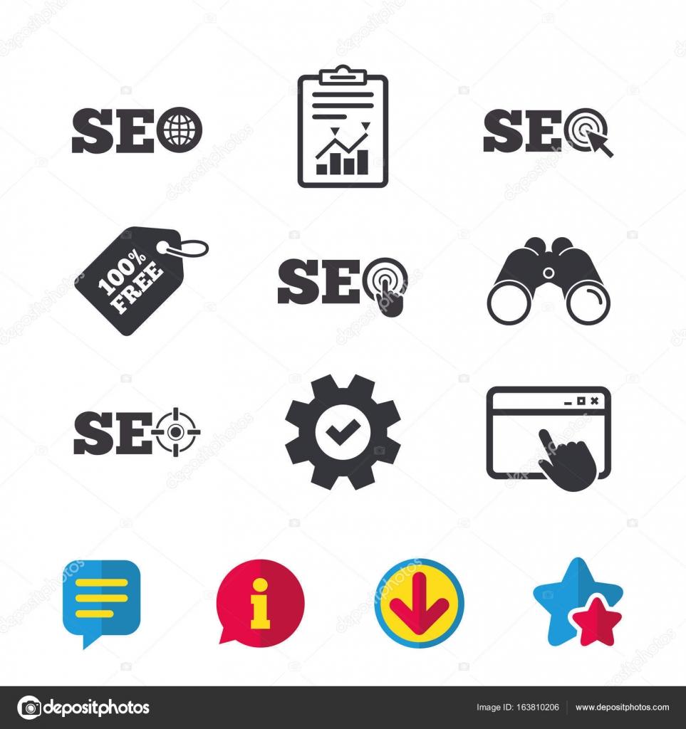 Search Engine Optimization Symbols Stock Vector Blankstock