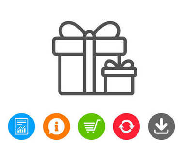 Gift boxes line icon