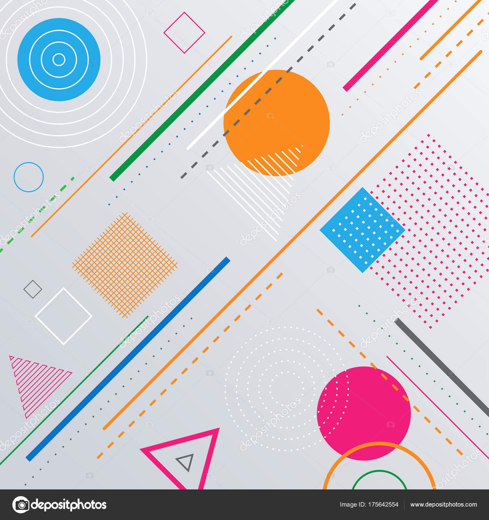 幾何学的なパターンの背景図形を抽象化します 色のついた丸