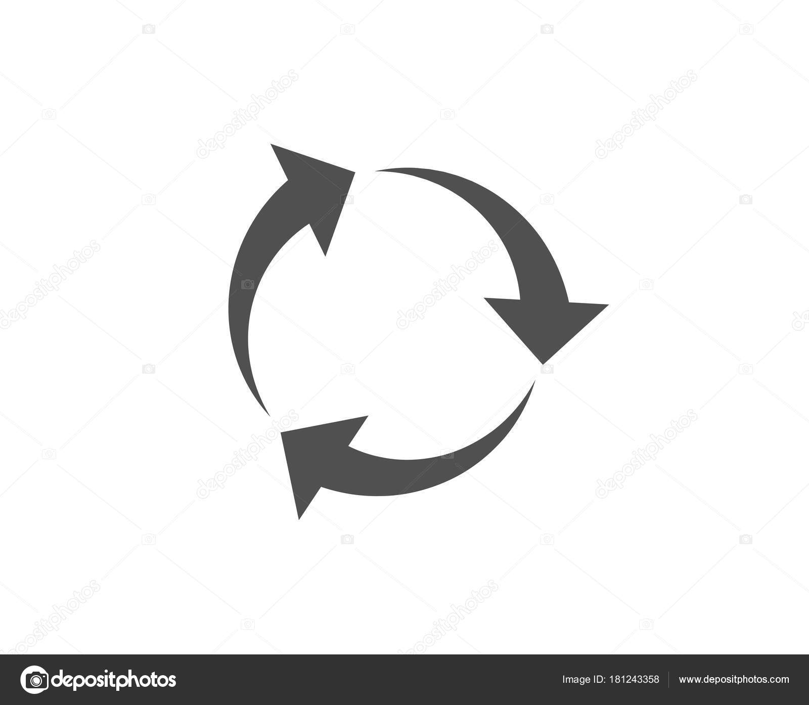 Recycle Arrows Icon Recycling Waste Symbol Reduce Reuse Sign Quality