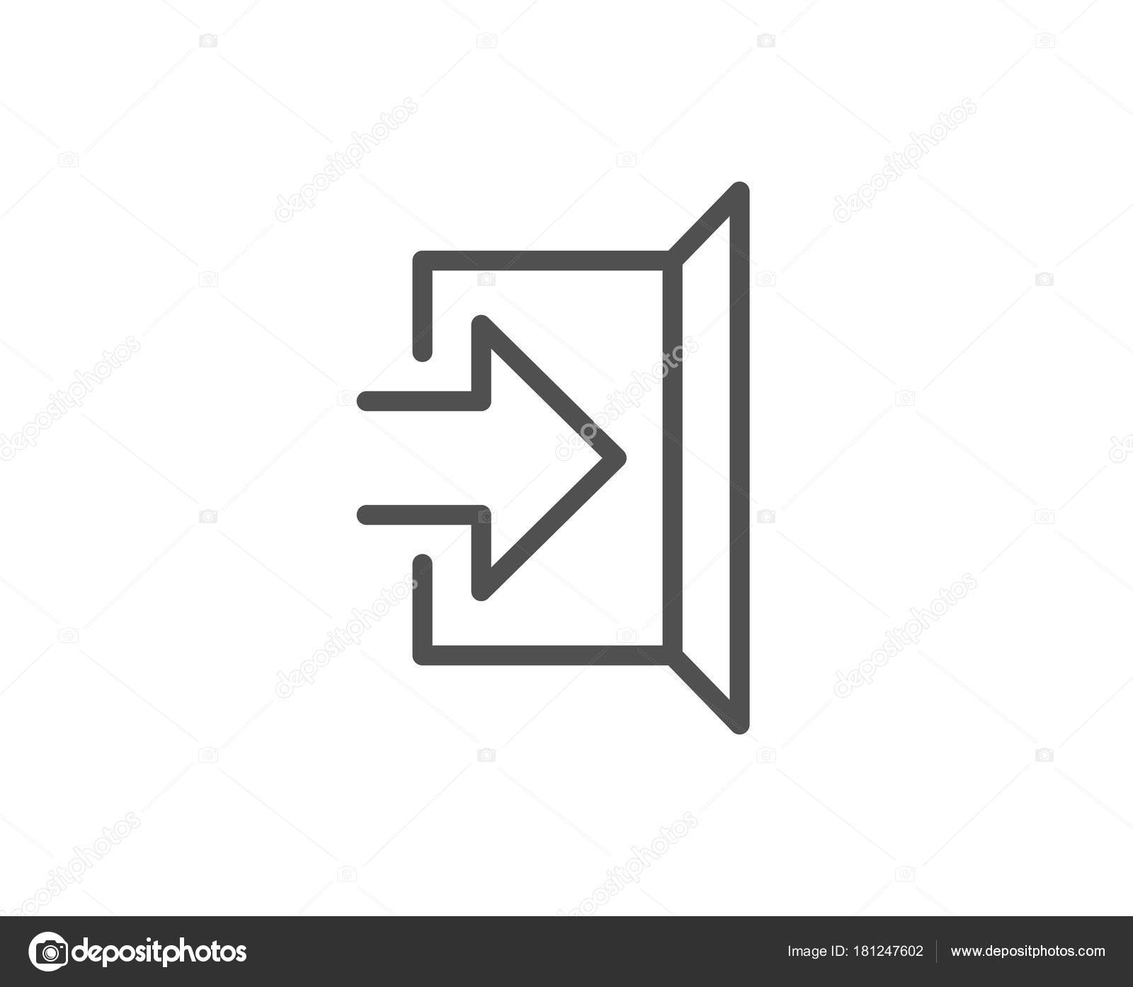 Exit line icon open door sign entrance symbol arrow vector stock exit line icon open door sign entrance symbol arrow vector stock vector buycottarizona Images