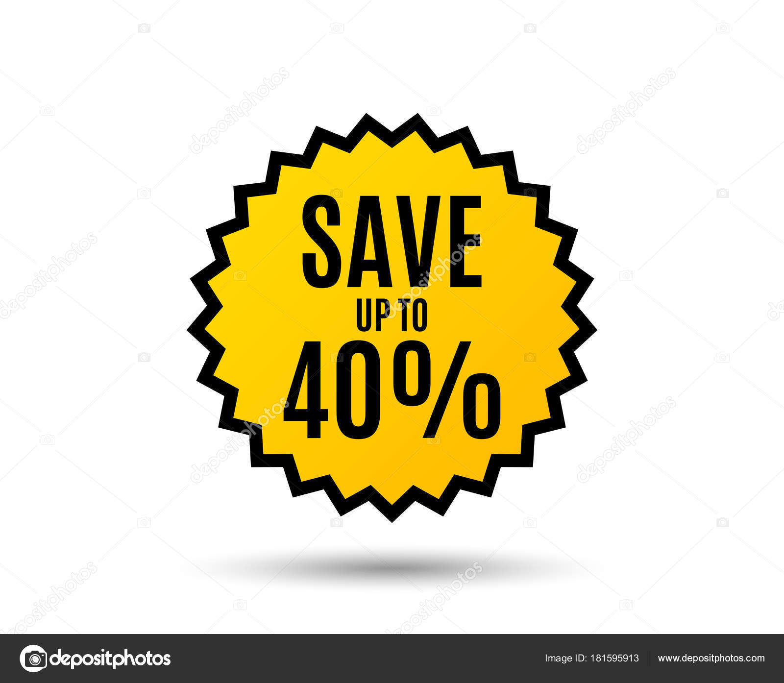Discount Sale Offer Price Sign Special Offer Symbol Star Button