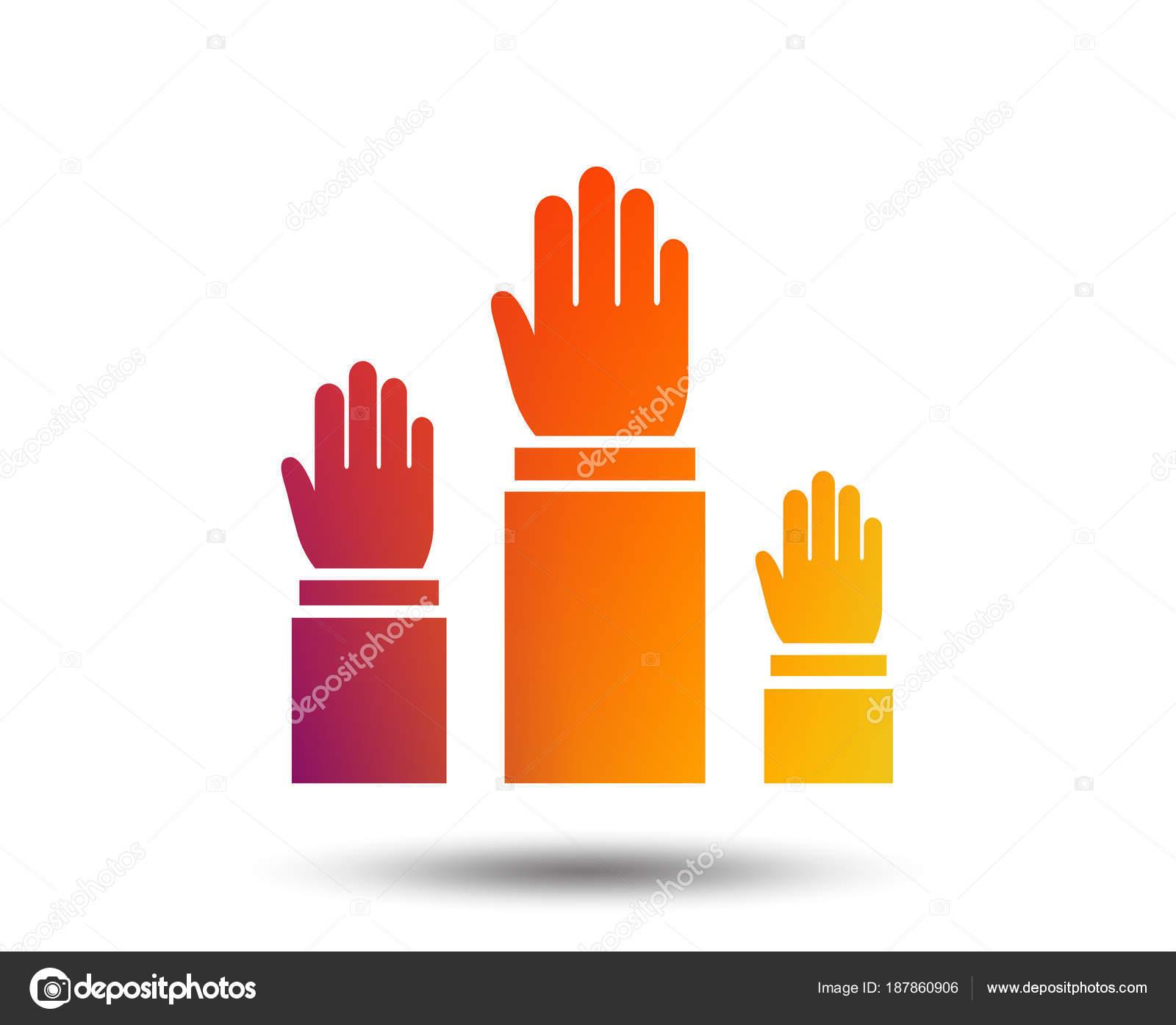 картинка знак поднятая рука