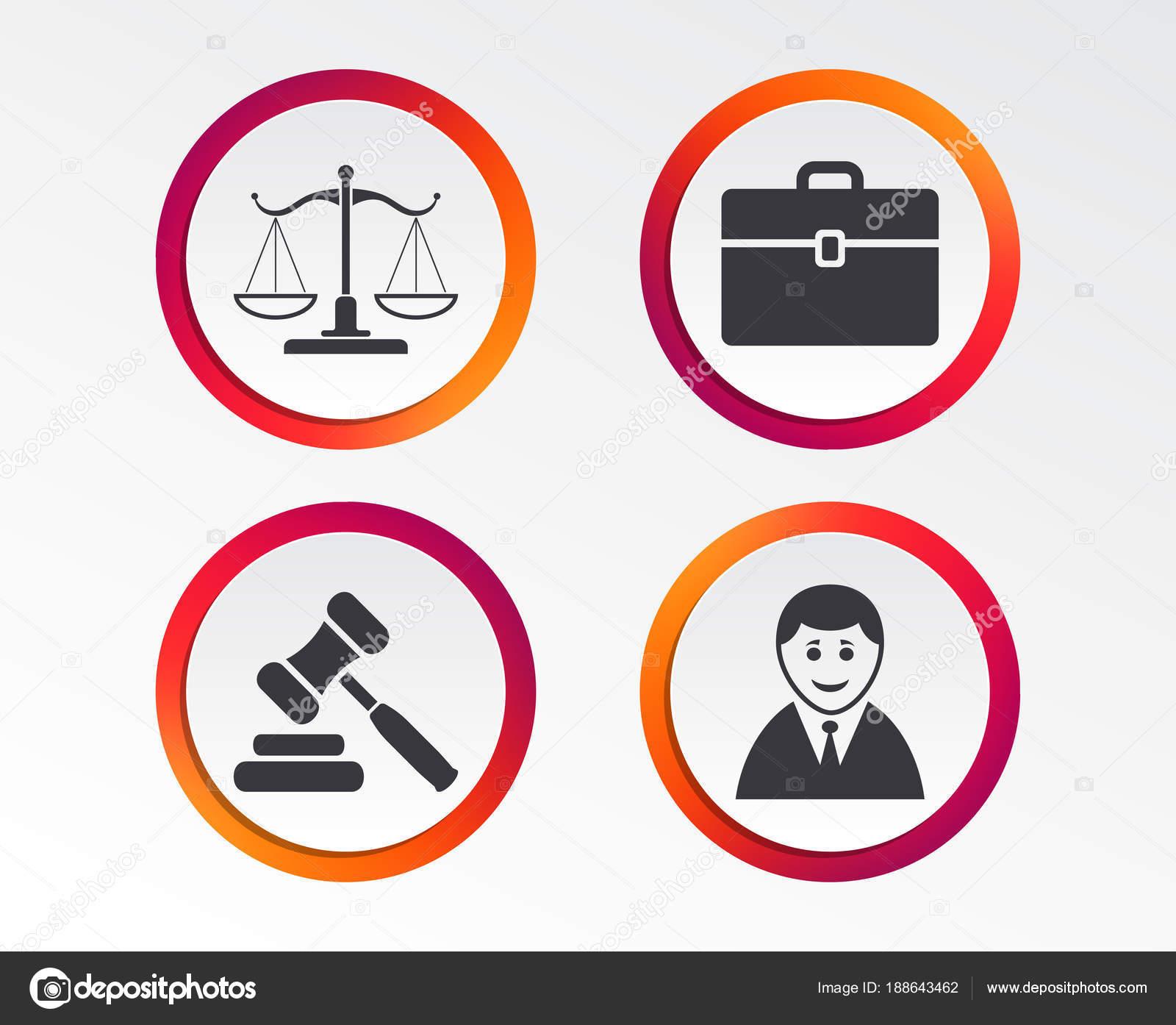 Waage Der Gerechtigkeit Symbol Client Oder Anwalt Symbol Auktion ...