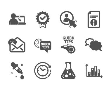 Set of Education icons, such as Diagram graph, Messenger, Receiv