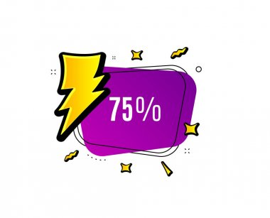 75% off Sale. Discount offer price sign. Vector