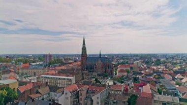 Osijek city aerial