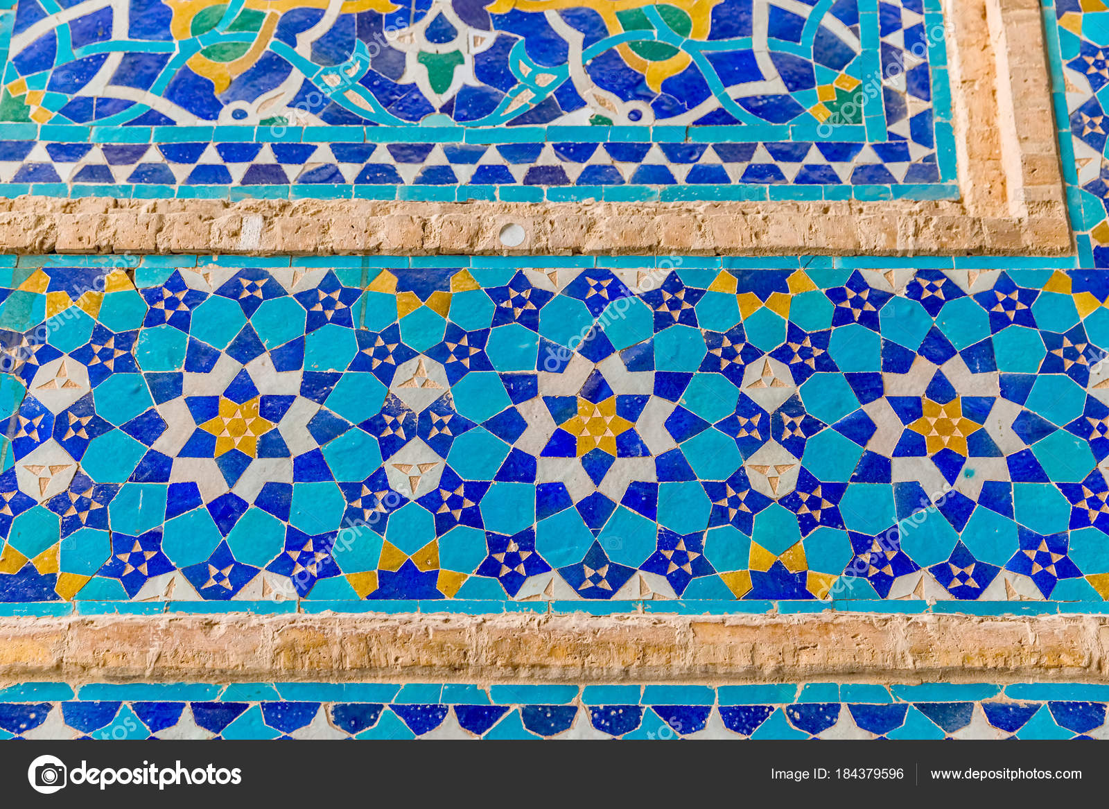 Colorful tiles of the Yame mosque — Stock Photo © dbajurin #184379596