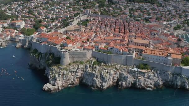 Dubrovník staré město jižní panorama drone shot