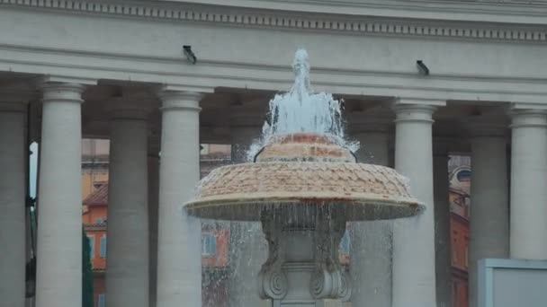 Fountain at St. Peter square in Vatican